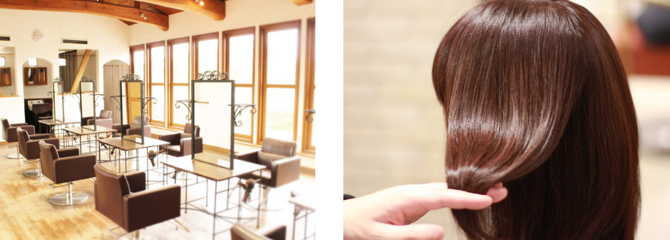 倉敷の美容室コルテグラス